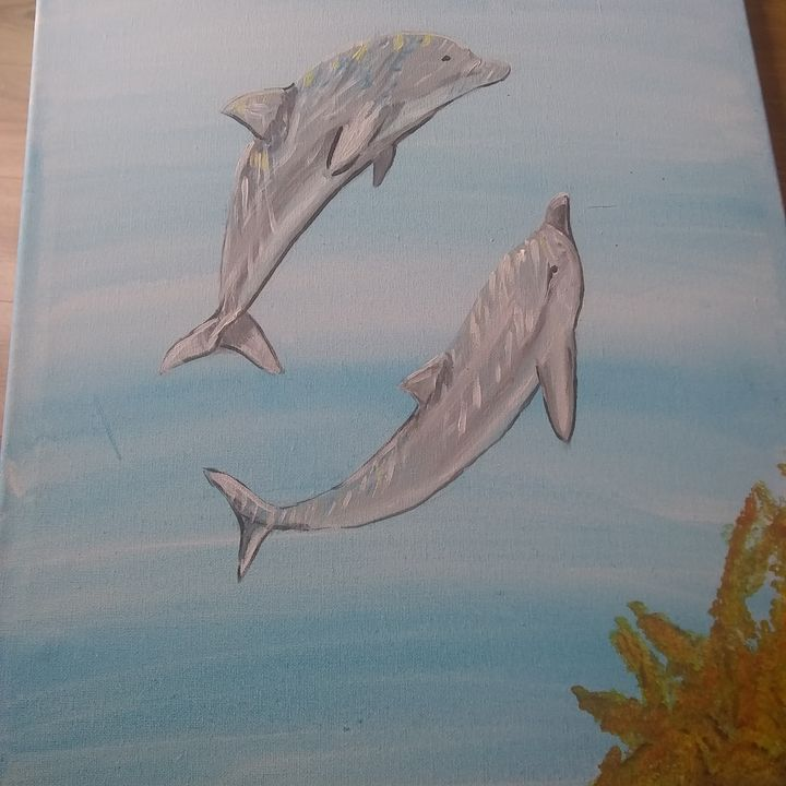 Dolphins and light - Lorraine lee