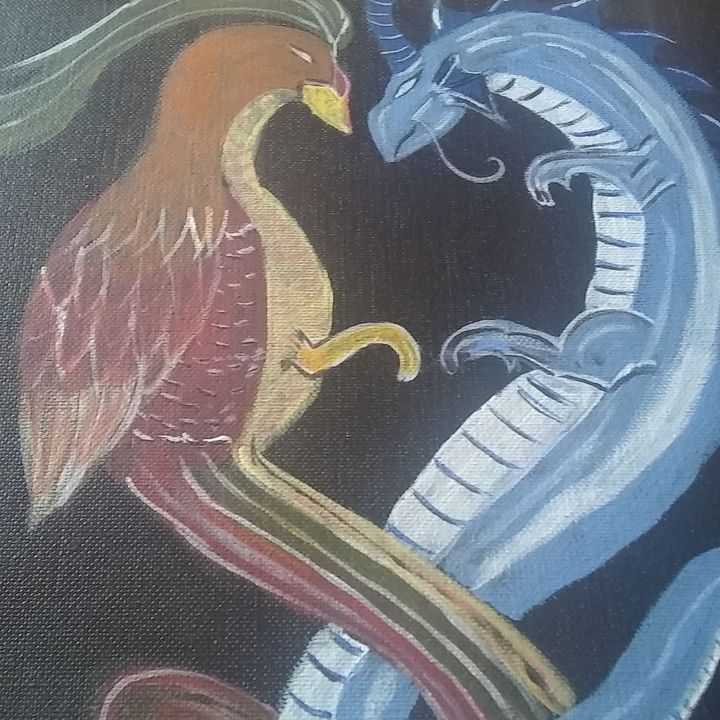 Pheonix and dragon - Lorraine lee