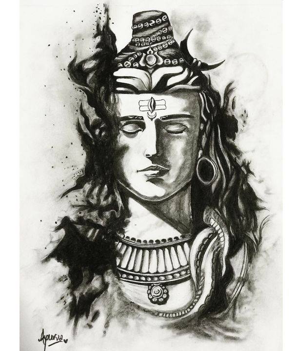 Shiva Sketch Dr Apurvage Arts Drawings Illustration