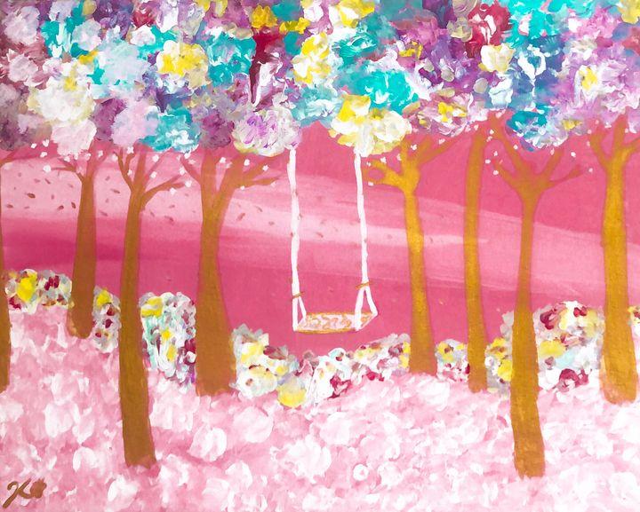 Pink Dream: On Canvas - Khirstyn-Lien