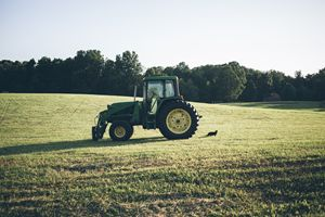 the tractor & the cat