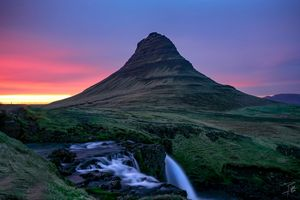 Mt. Kirkjufell at Sunset