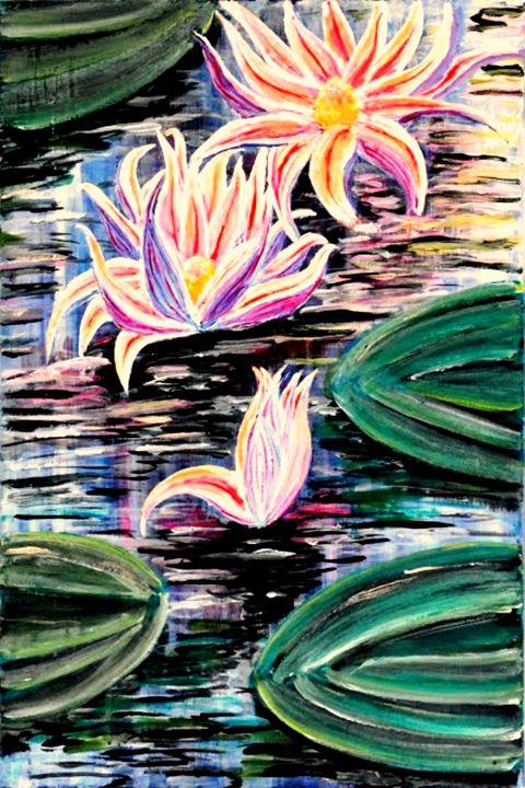 Water Lilies Reaching High - Medea Ioseliani