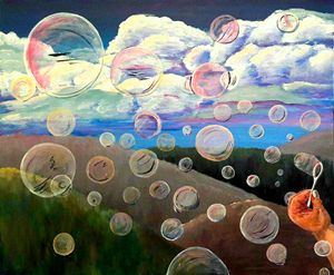 Bubbles on the road