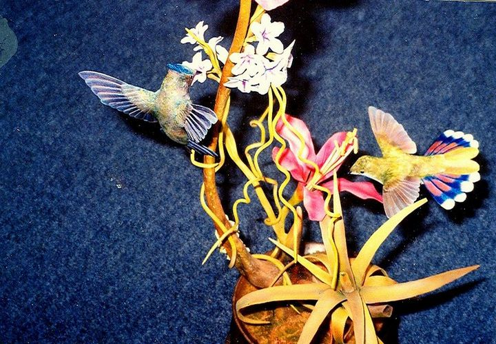 """Pot Luck"" looking down at the birds - John L Williams"