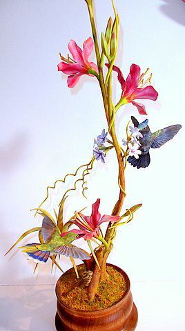 """Pot Luck"" Antillean hummingbirds - John L Williams"