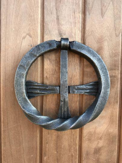 Door Knocker Metal CROSS shape - HillForge