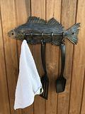 Hand Forged Coat Rack FISH SHAPE