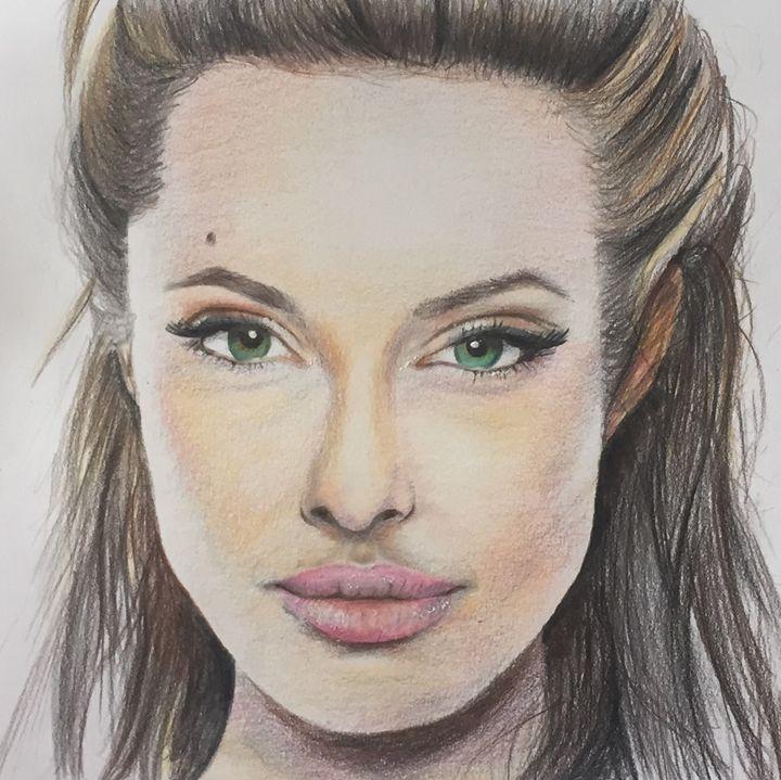 Angelina Jolie - Art By Loz