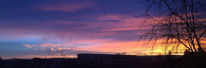 Scottish Sunset - Art By Loz