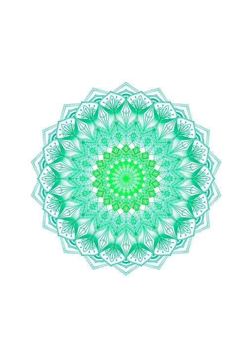 Bright Green Mandala WallArt - ElfElfen