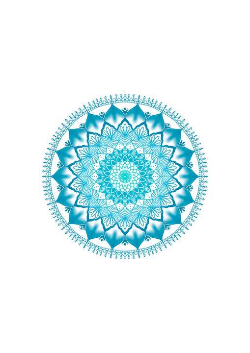 Light Blue Green Blue Mandala - ElfElfen