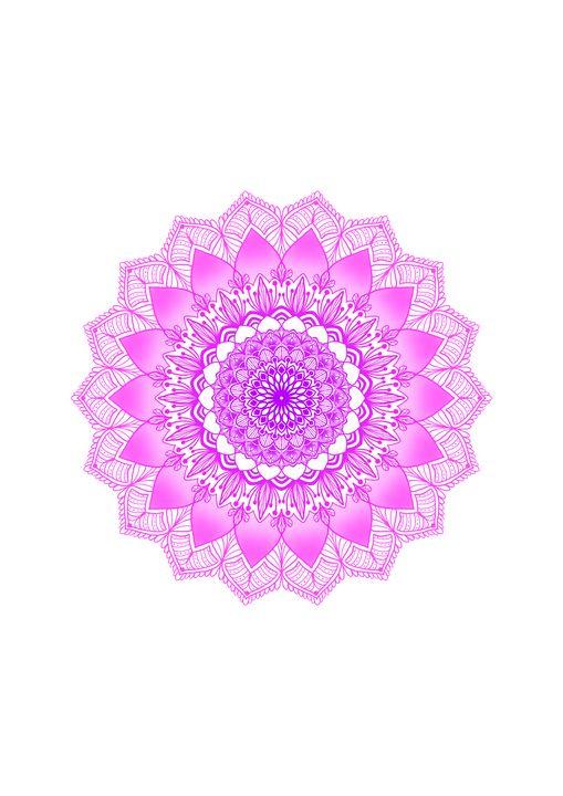 Purple and Pink Mandala WallArt - ElfElfen
