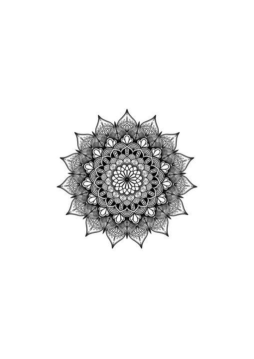 Black Mandala Wall Art - ElfElfen