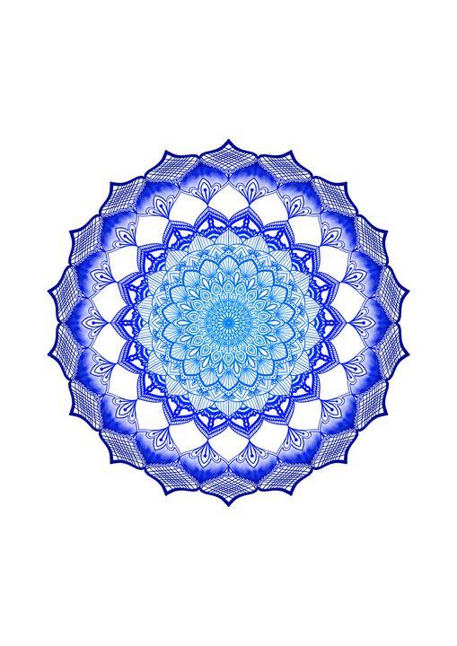 Blue Mandala Gradient Navy Blue - ElfElfen