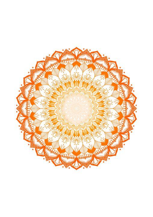 Orange Gradient Mandala WallArt - ElfElfen