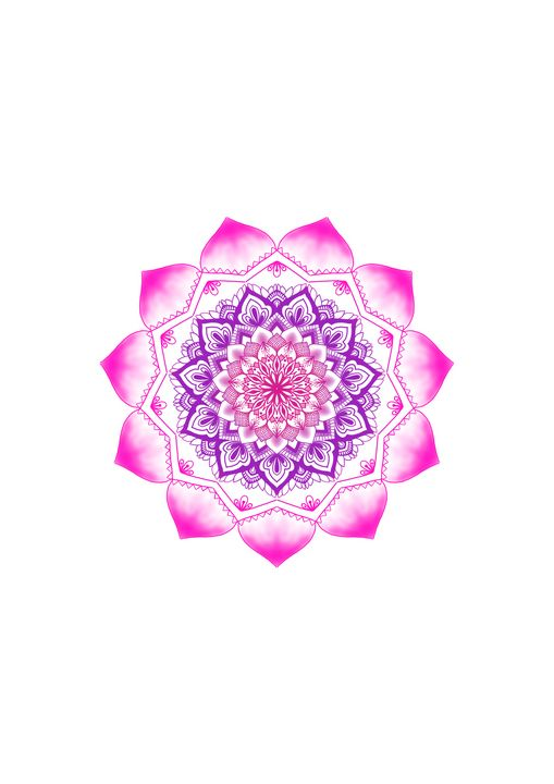 Purple Pink Gradient Mandala Art - ElfElfen