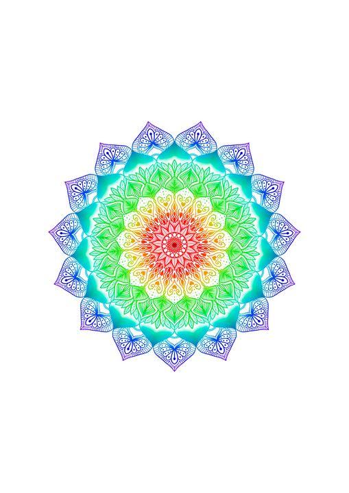 Rainbow Mandala Gradient WallArt - ElfElfen