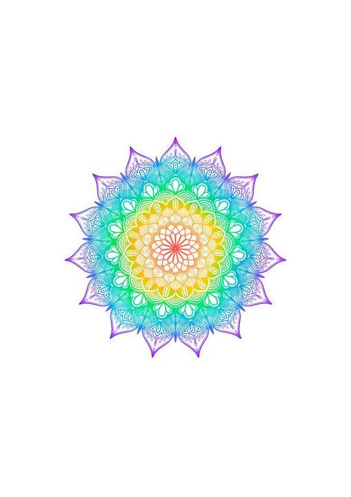Digital Rainbow Pride Mandala - ElfElfen