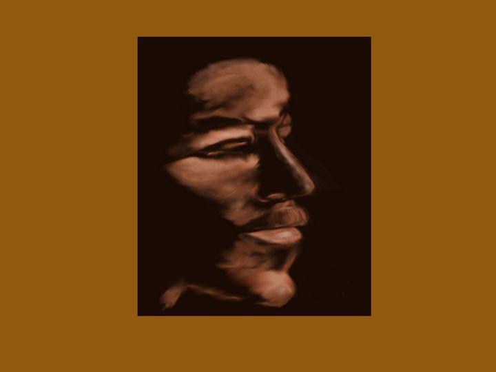 The Pugilist #2 bronze background - David R. Bedingfield