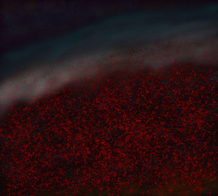 Midnight mist over the poppy field - David R. Bedingfield