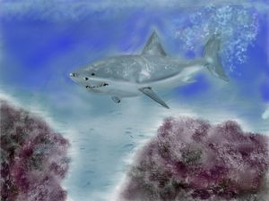 Hunting in the coral - David R. Bedingfield