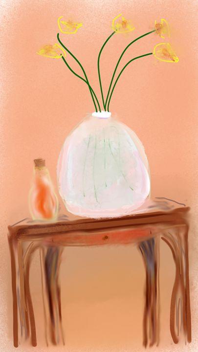 Flowers on Table - David R. Bedingfield