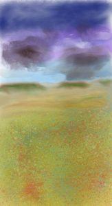 Dakota rain with wildflowers - David R. Bedingfield