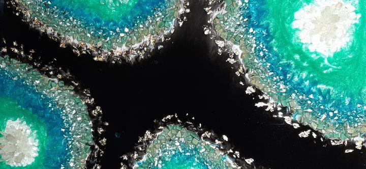 Aventurine crystal geode - Heidi Davis