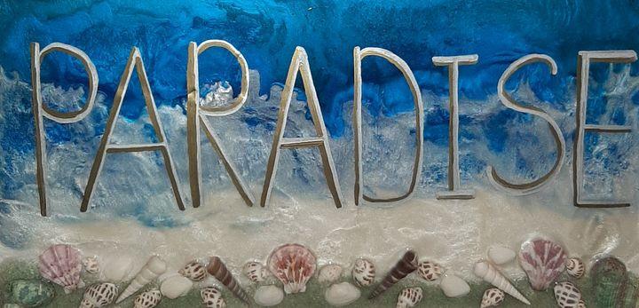 Paradise beach resin art - Heidi Davis