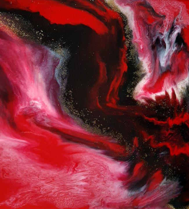 Abstract resin art - Heidi Davis