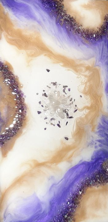 Wispy Amethyst geode agate slice - Heidi Davis