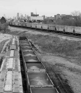 Trains over kellogg