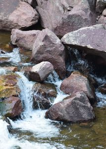 Colorado color rock water
