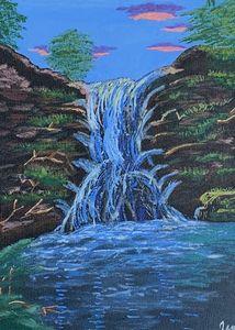 Acrylic Waterfall Landscape, Print