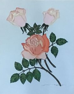 Acrylic Roses, Roses Painting