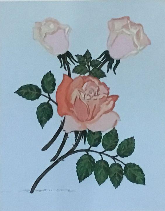 Acrylic Roses, Roses Painting - Printsdesigning