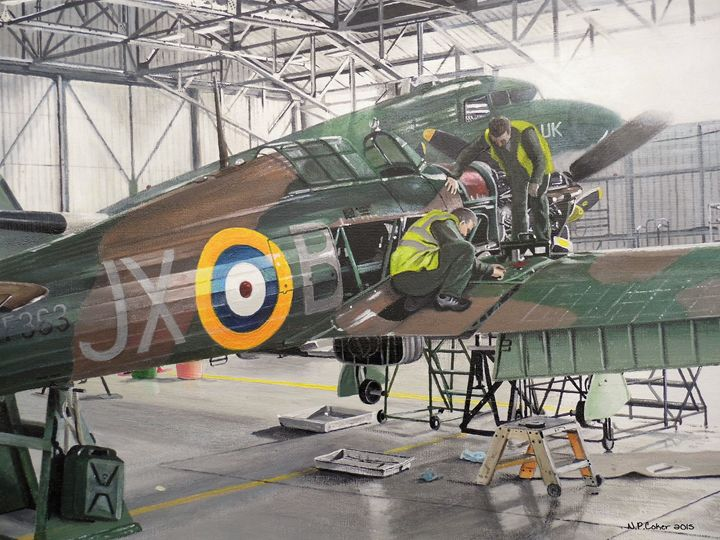 BBMF Hawker Hurricane IIc - Nicholas Peter Coker: Aviation Artist