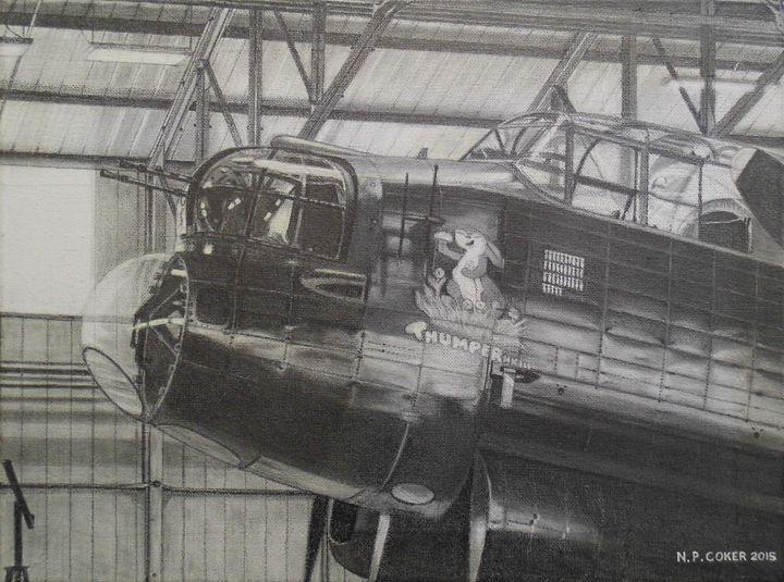 BBMF Avro Lancaster - Nicholas Peter Coker: Aviation Artist