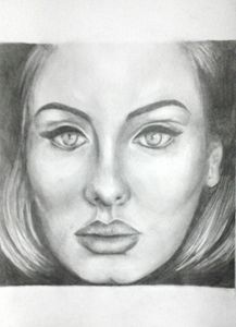 Adele Pencil Drawing