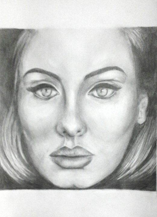Adele Pencil Drawing - sbdrawings