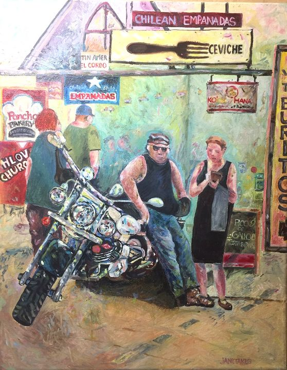 Biker in Kensington - Mike Janetakes