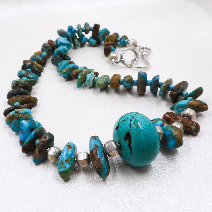 Turquoise & Sterling Silver Necklace - Community Artists Gallery & Studios