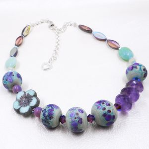 Glass, Gem & Crystal Necklace