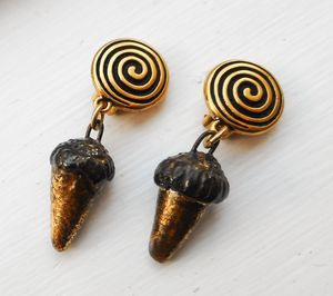 Ceramic Cone Clip-on Earrings