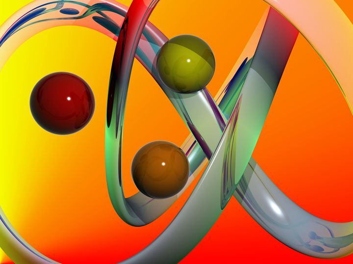 three balls background 3d abstract - bmdino
