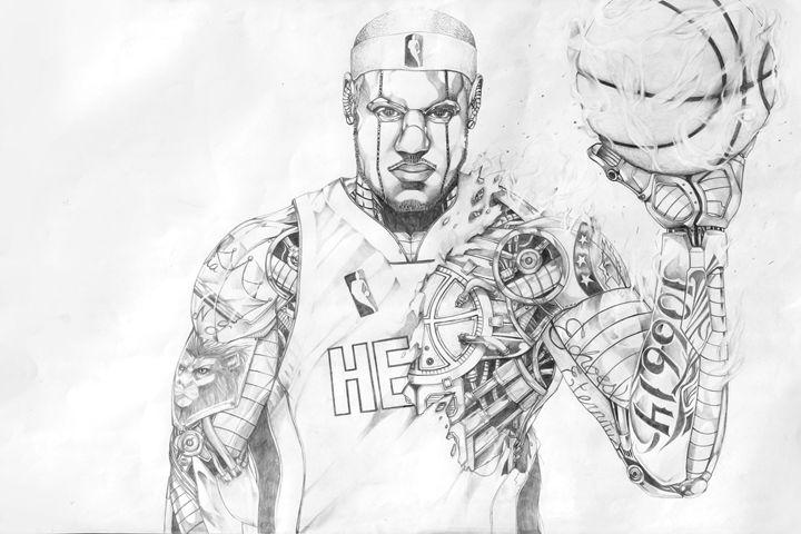 """""""Heart in the Game/RoboLeBron"""" - Paint with Faith"""