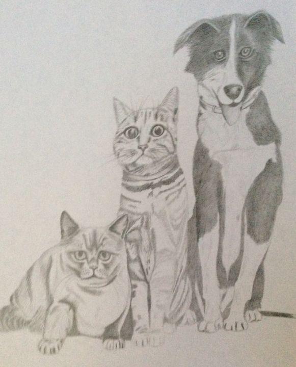 Three Best Friends - High Mountain Art