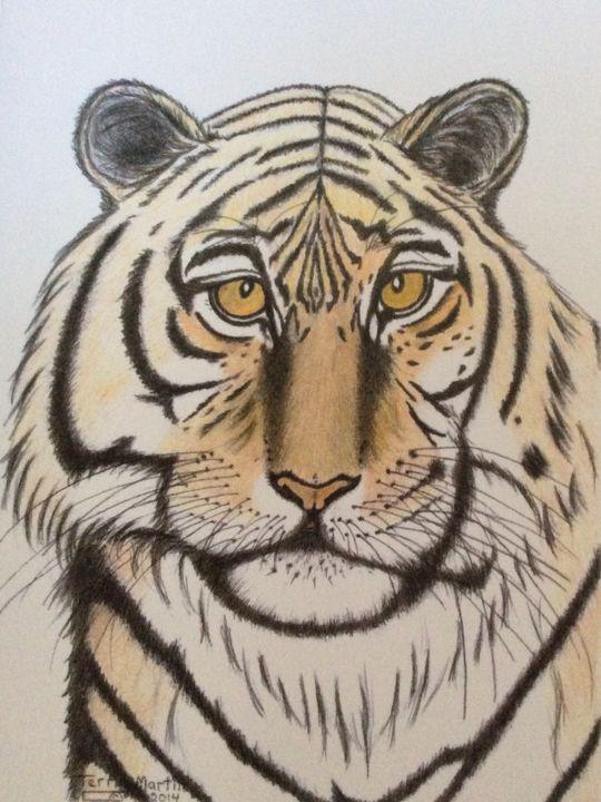 Tiger Male - High Mountain Art