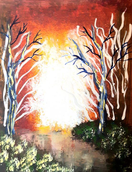 A Fiery Forest - Alecia Samuelson's Art